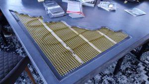 Vloerverwarming in een tafelblad